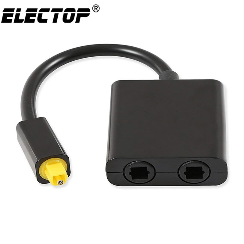 Digital SPDIF Optical Audio Splitter 2 Way Toslink Splitter Adapter 1 input 2 Output SPDIF Optical C