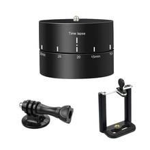 Таймер 360 градусов 60 120 минут авто поворот база Timelapse головки штатива для Canon Gopro hero 7 6 5 4 3 Экшн-камеры телефона