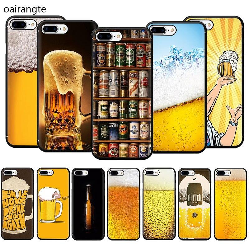 Cervezas del mundo Alcohol verano burbuja suave TPU teléfono caso para iPhone SE 2020 11 Pro 5 5s 6 6s 7 8 Plus X XR XS MAX