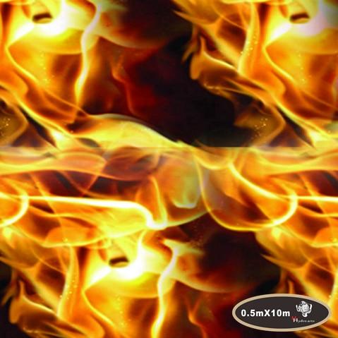 New arrival flaming fire pattern hydro/water transfer printing hydrographic film 50cm*10m aqua print HFD006