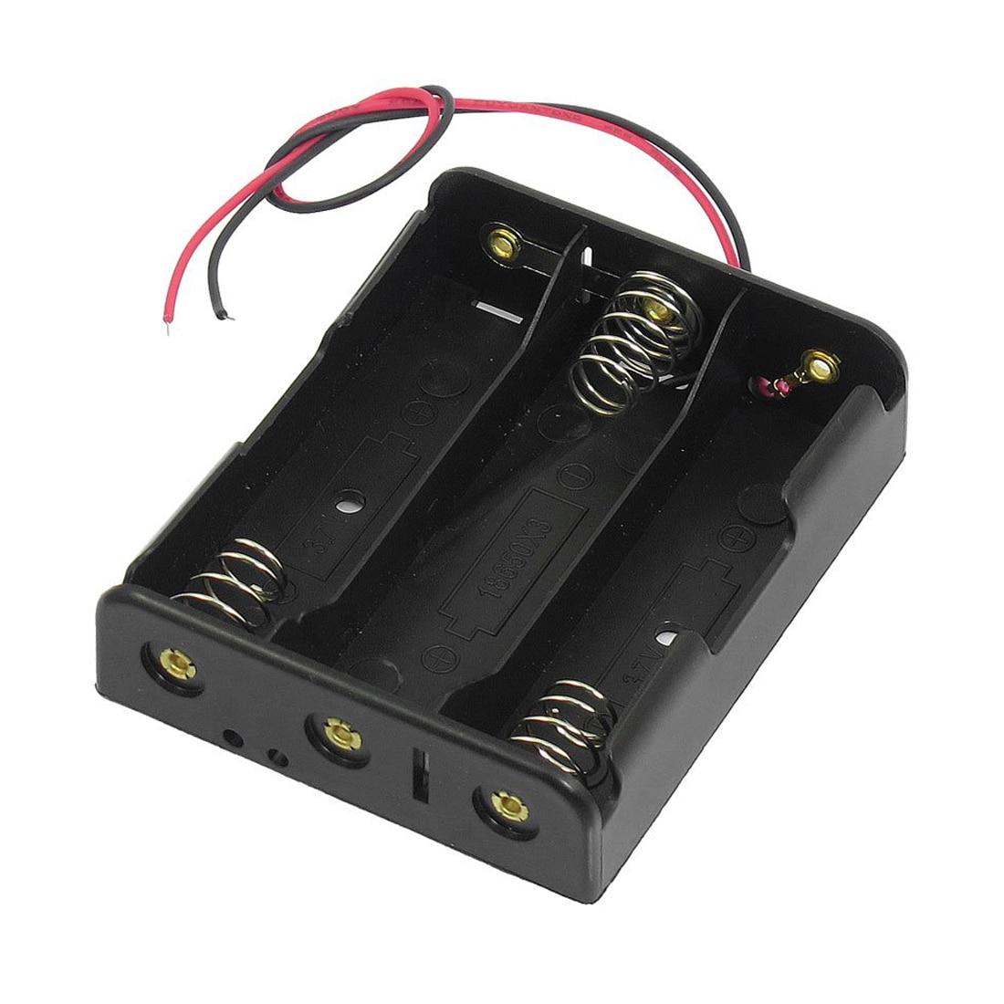 Серия 3,7 V плоский наконечник держатель батареи Чехол для 3x18650 батарей
