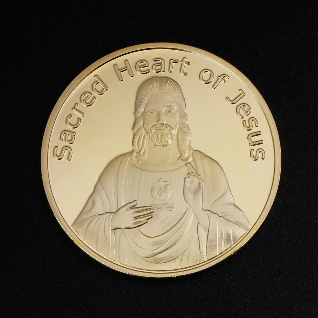 Gedenkmünze Jesus Segne Gott Silber Gold Sammlung Souvenir Geschenke Kunst Handwerk Sammeln Münzen N19-A