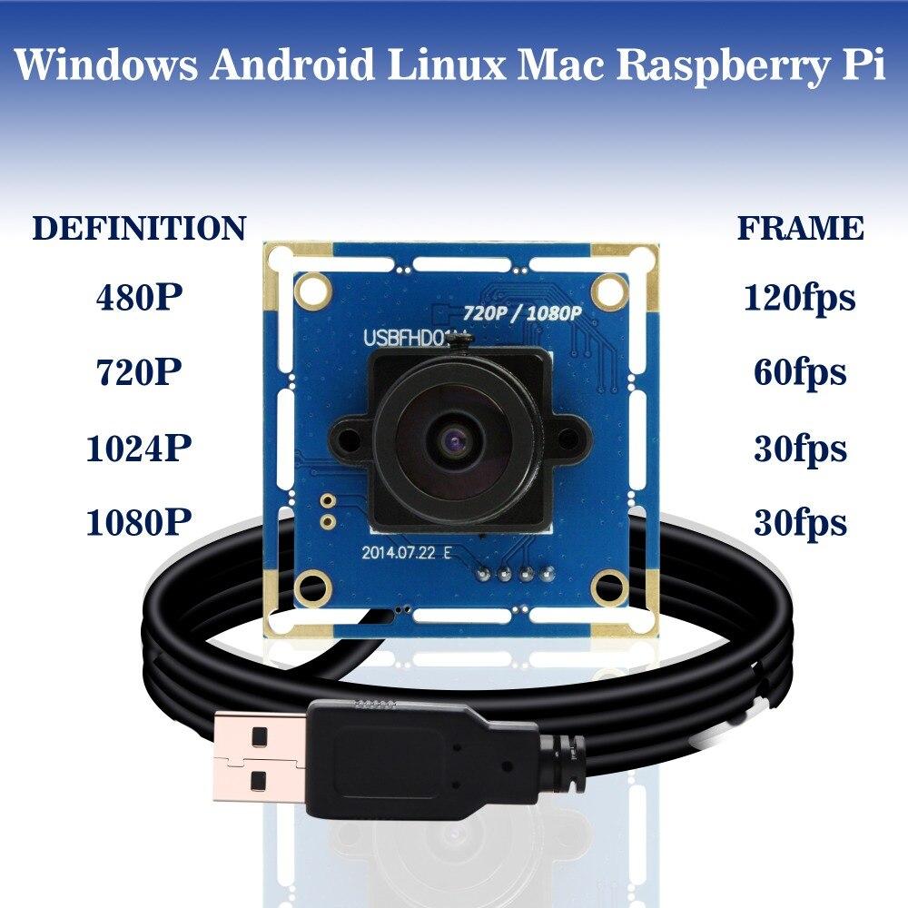 IR pasar Full Hd 1080p MJPEG 30fps/60fps/120fps CMOS de alta velocidad OV2710 Mini Webcam Usb Módulo de cámara con 850nm filtro de paso ir