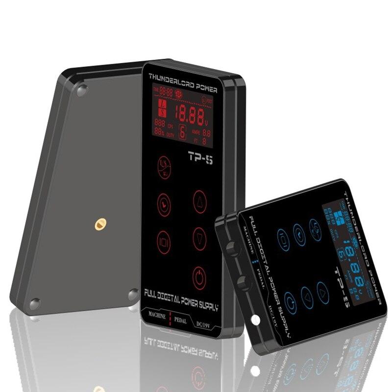 ¡Arriba! Pantalla táctil de actualización profesional TP-5 fuente de alimentación Digital inteligente del tatuaje del LCD (Color al azar)