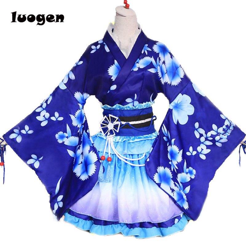 Sonoda kimono de Umi vestido de Albornoz Anime Love Live Cosplay YUKATA serie Janpanese verano Chicas lindas Anime Cosplay disfraces