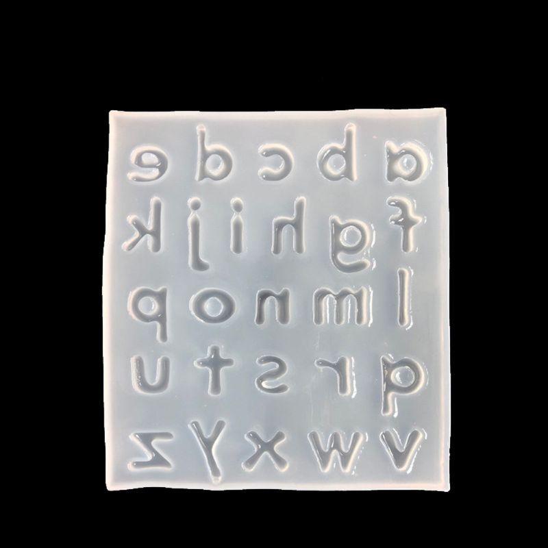 26 Английский алфавит литье смолы силиконовая форма для ювелирных