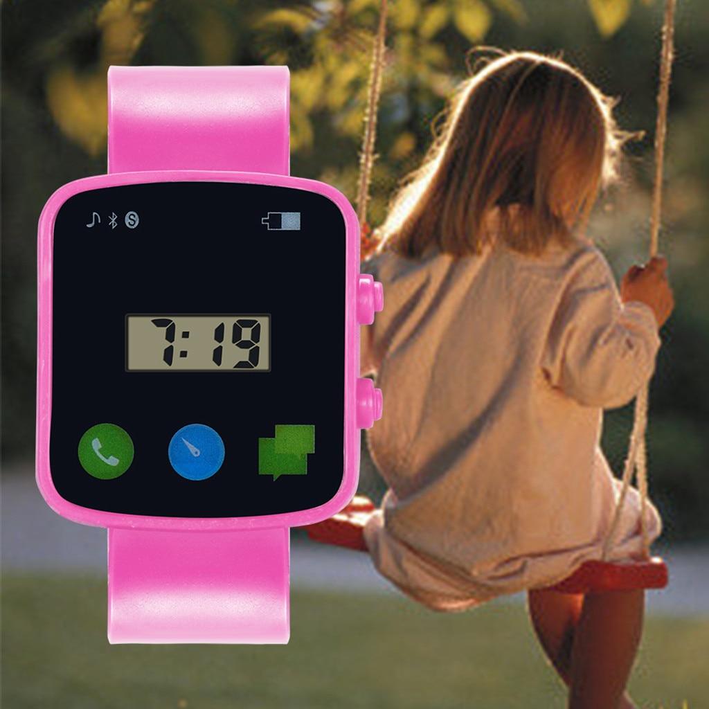 Fashion Square Digital Watch For Children Boys Girls Analog Digital Sports Watch LED Electronic Wate