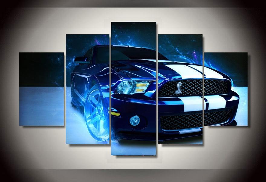 2017 venta directa real cuadros decoracion (unframed) shelby Mustang coche cuadro pintura pared arte habitación decoración impresión lienzo HD