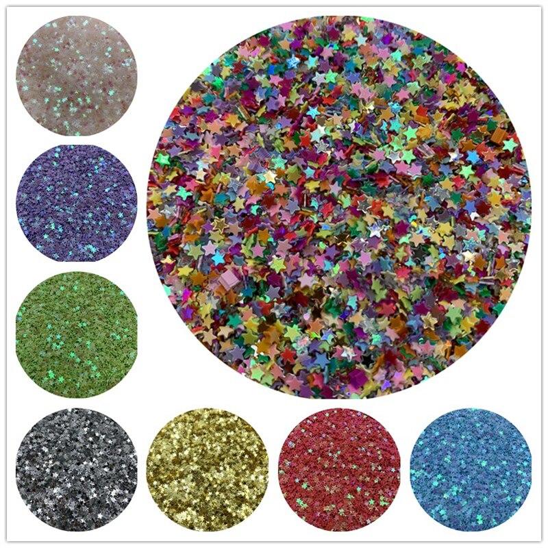 10000 unids/lote 10g 3mm PVC estrella plana suelta costura de lentejuelas accesorios para manualidades DIY colgante SequinTrim