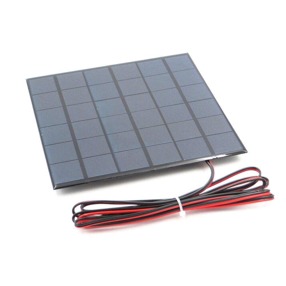 1 ud. x 9V 467mA con cable de extensión de 200cm Panel Solar policristalino cargador de batería DIY pequeño Mini cable de módem Solar de juguete