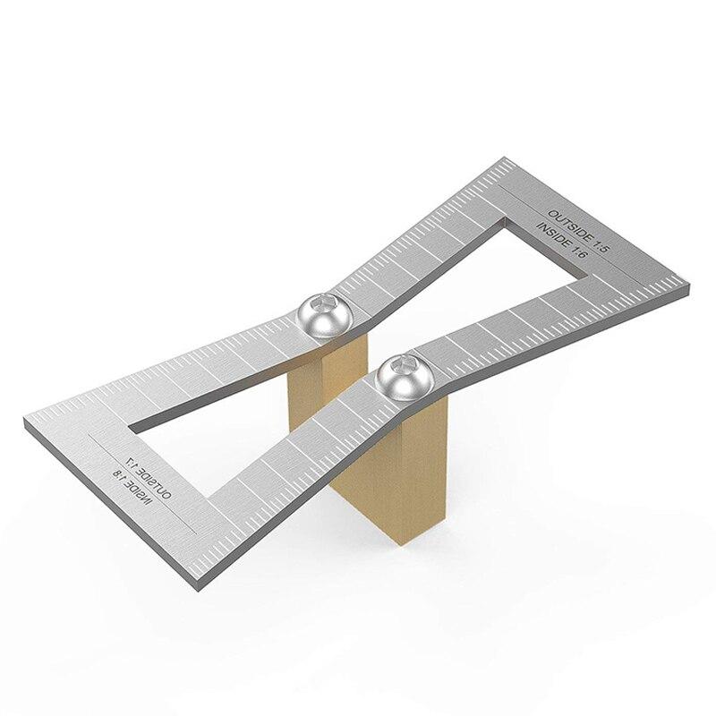 Топ-оценочный маркер ласточкин хвост, ручная резка деревянных соединений Калибр ласточкин хвост инструмент с чехлом, ласточкин хвост шаблон Размер 1: 5-1: 6 и 1: 7