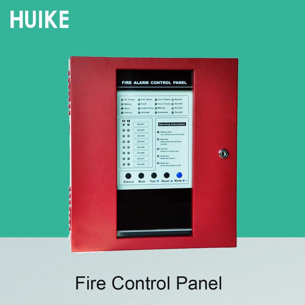 Fogo painel de controle 8 zonas de fio dispositivo apoio fumaça convencional sistema de alarme sensor gás combustível porta alarme aberto
