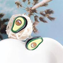 New Arrival moda zielone awokado losowa kolczyki przesadzone duże owoce awokado kolczyki fajne biżuteria punkowa akcesoria kobiety