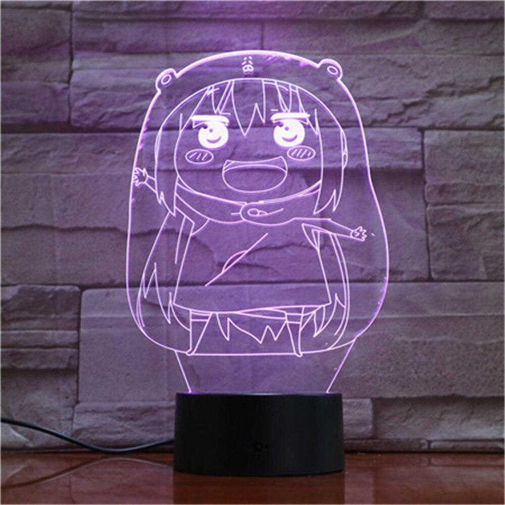 Lámpara de luz LED 3D de noche para niños, lámpara de mesa...
