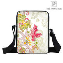 Custom Colorful Butterfly (1  Mini Messenger Shoulder Crossbody Bag handbag Teenager Small Bag Kid Bags Bookbag Gift#18-12-31-11