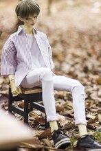 BJD vêtements de poupée pour 1/3 1/4 1/6 MSD oncle taille déchiré petit pied stretch blanc denim pantalon accessoires de poupée