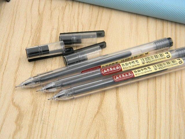 3 bolígrafos de Gel negro 0,4mm estándar europeo transparente de moda tipo aguja