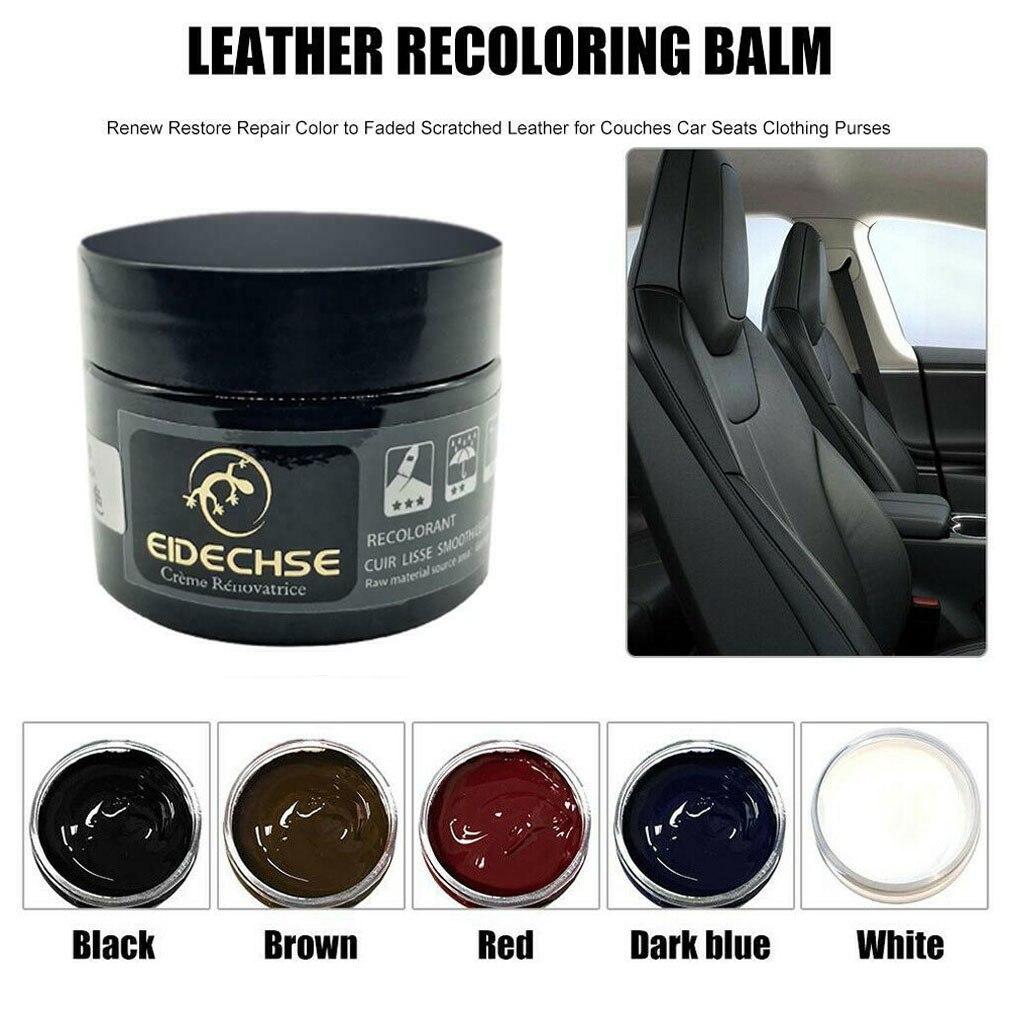 Leather Repair Dye Color Restorer For Car Seat Sofa Holes Paste Wax Oil Cream