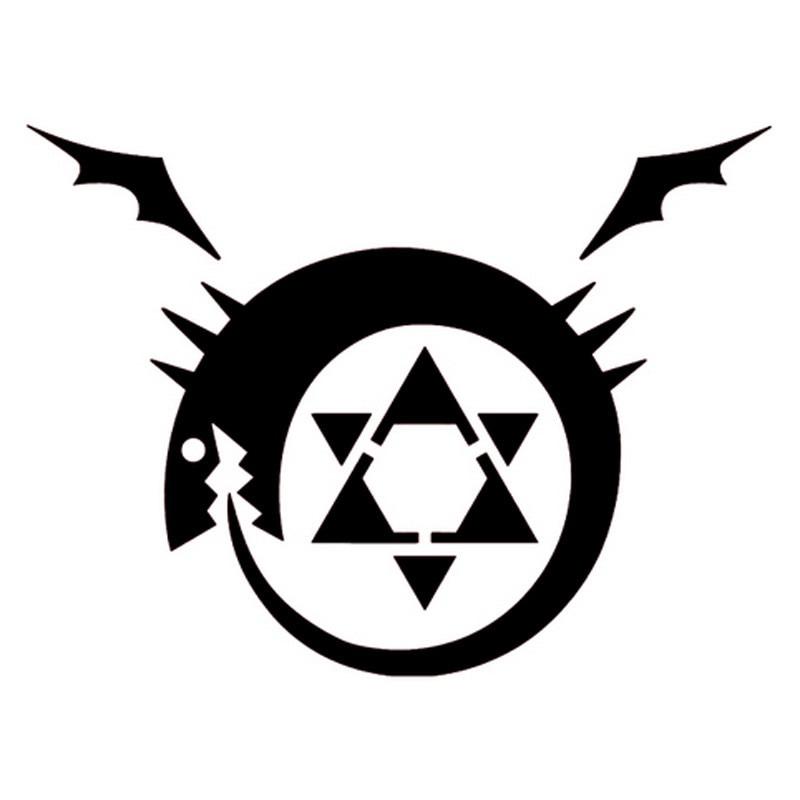 14cm*10.6cm Fullmetal Alchemist Homunculus Anime Vinyl Car Sticker Black  wall  sticker