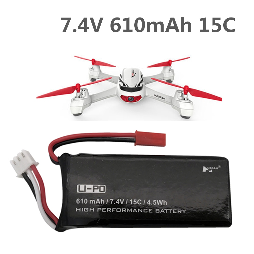 Bateria original 7.4v 15c 610mah do quadcopter de hubsan h502s h502e lipo das peças sobresselentes 7.4v 15c 610mah rc para hubsan