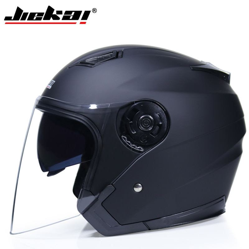 JIEKAI Motorrad Helme Elektrische Fahrrad Helm Open Gesicht Dual Objektiv Visiere Männer Frauen Sommer Roller Motorrad Moto Bike Helm