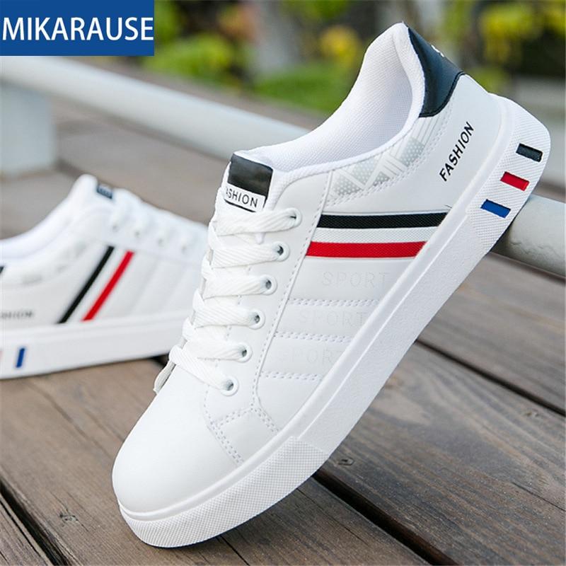 Size39-44 الرجال الأبيض حذاء كاجوال تنفس لينة بو الكورية النسخة تنيس أحذية رياضية الرياضة تشغيل رجل حذاء رياضة وسيم أحذية