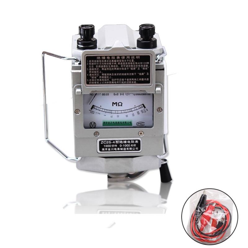ZC25-4 1000 فولت 1000MΩ أوم العزل Megohm تستر المقاومة متر Megger Megohmmeter مع البلاستيك عالية الجودة