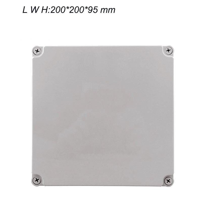 Caja de conexiones de plástico de gama alta, caja de la caja eléctrica al aire libre 200mm * 200mm * 95mm IP67 IK08 conector de sedal