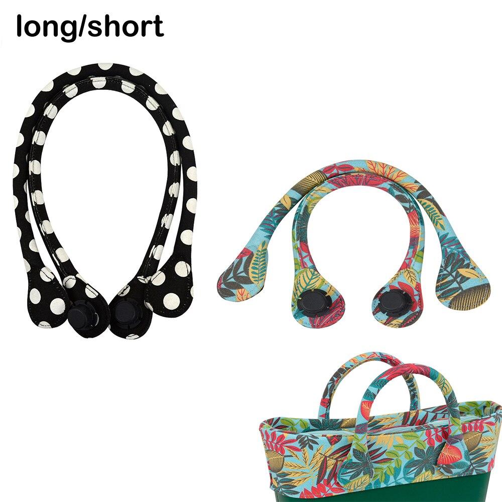 Krótki długi okrągły uchwyt z tkaniny płóciennej do Obag Classic Mini O torba damska torebka na ramię