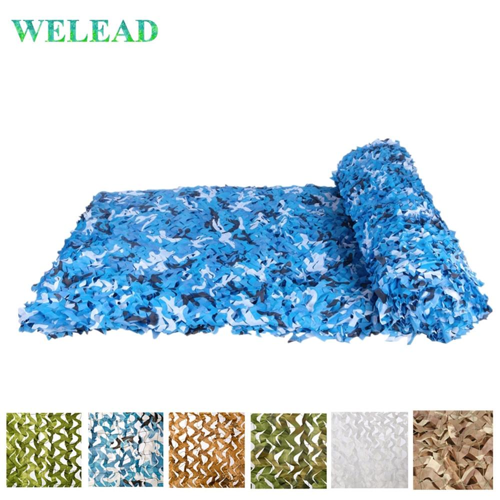 WELEAD 2x5 усиленная камуфляжная сетка Маскировка скрытие сад наружные навесы