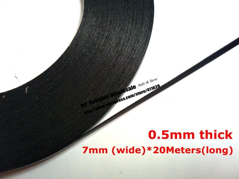 De 7mm de ancho, (0,5mm de espesor), 20M/rollo, cinta de esponja de espuma negra adhesiva de doble cara para móvil Tablet PC a prueba de polvo