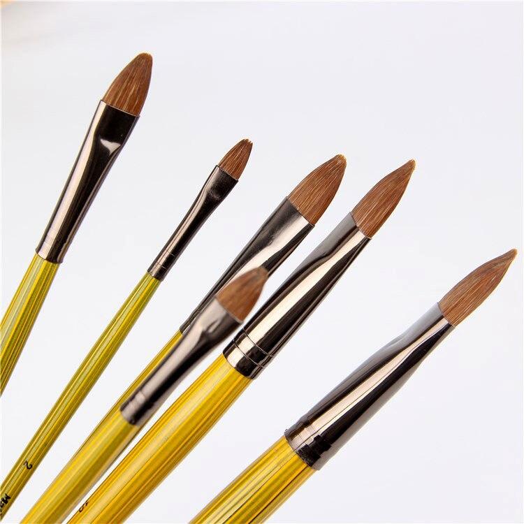 Alto-Grado weaselcow crin de caballo pintura pinceles una venta al por mayor de pinturas de acrílico pincel para óleo materiales de arte profesional papelería