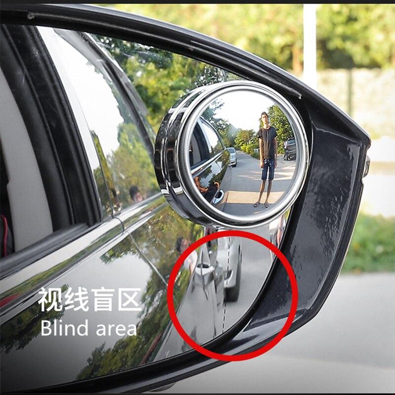 2 pçs/set ultrafino de 360 Graus Wide Angle Rodada Convexo Blind Spot espelho para visão Traseira de estacionamento espelho de vidro de Cristal de alta qualidade