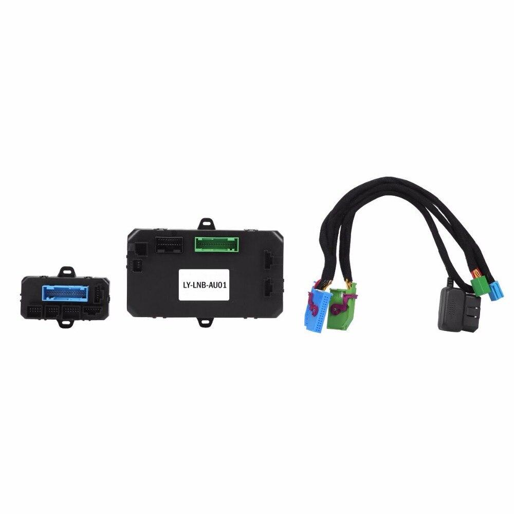 PLUSOBD système dalarme de voiture   Sans clé, Go système dentrée sans clé, GPS, suivi GSM, télécommande de voiture, démarrage à distance, pour Audi A6 A4 Q5