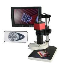 "13MP HDMI VGA Industrie Mikroskop Kamera + 8X-130X Zoom C-mount Objektiv + 56 stücke Led + 8 ""LCD Monitor für Industrielle Lab PCB"