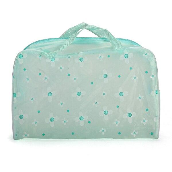 2X neceser Portable con cremallera para maquillaje, neceser, bolso para baño de viaje, bolsa para lavar a mano
