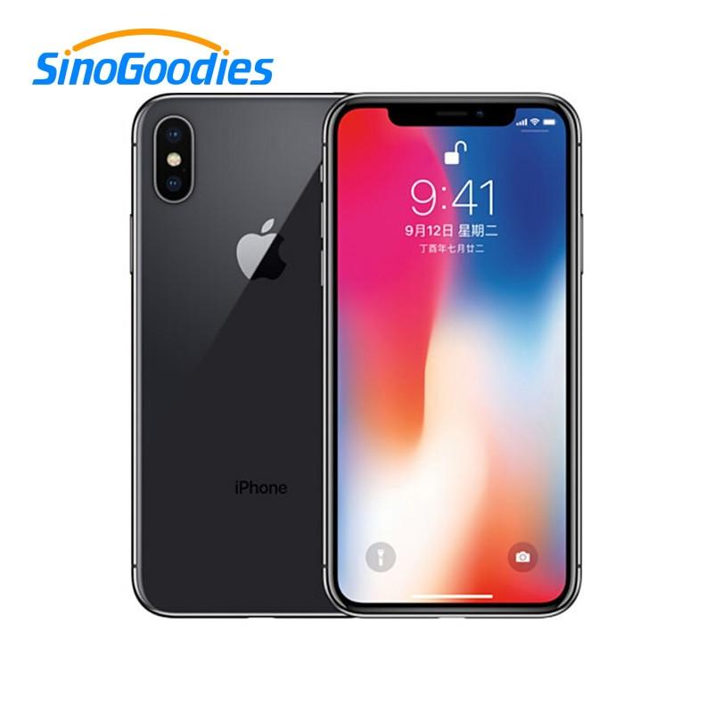 Unlocked Apple Used iPhone X Face ID 64GB/256GB ROM 5.8 inch Mobile Phone 3GB RAM 12MP Hexa Core iOS A11 Dual Back Camera 4G LTE