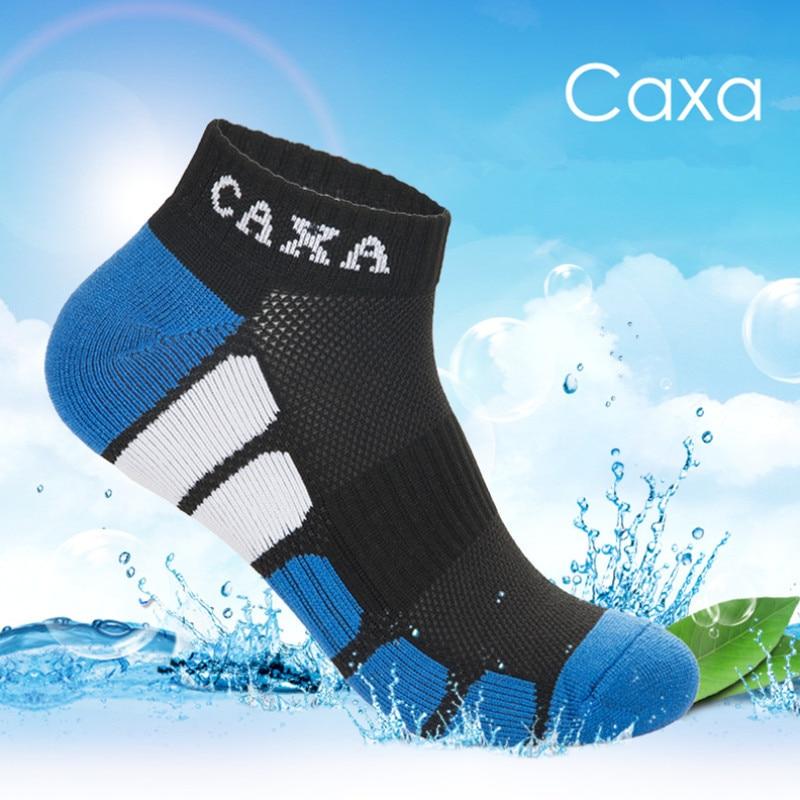 Calcetines deportivos profesionales CAXA para hombre para todas las estaciones, Calcetines transpirables para correr, Calcetines de secado rápido para escalada, gimnasio, Fitness