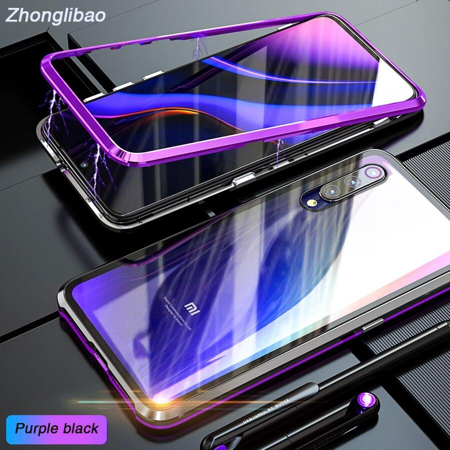 Роскошный Магнитный адсорбционный чехол для Xiaomi Mi 9, ультра магнитный металлический Прозрачный чехол из закаленного стекла для мобильного телефона Xiomi Xiao Mi 9