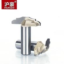 """Huhao 1 Pc 1/2 """"Schacht Trimmer Frezen Voor Hout Tungsten Carbide Houtbewerking Graveren Endmill Precisie Werk Edge Cutter"""