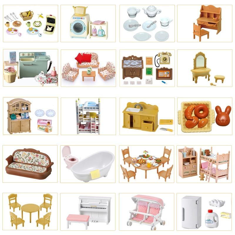 Игрушечный набор для кукольного домика мебель кухни ванной комнаты без