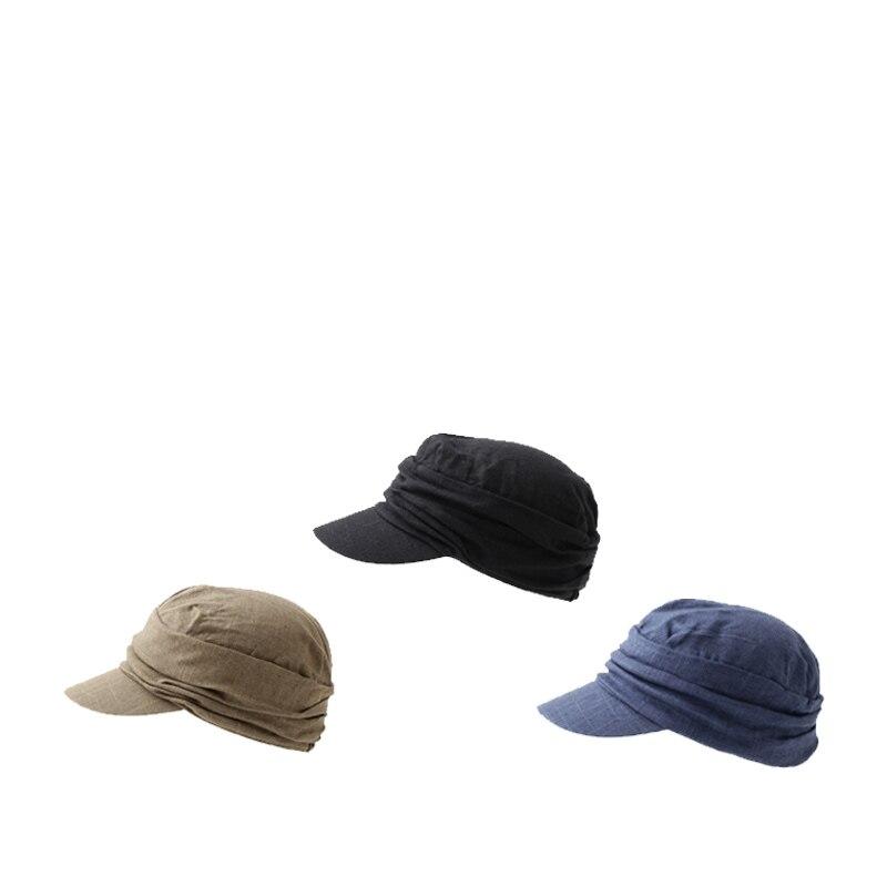 قبعات مثمنة الشكل للرجال والنساء ، قطن وكتان ، مسطحة ، سائق شاحنة ، عتيق ، شارع عسكري ، شحن مجاني ، جودة عالية