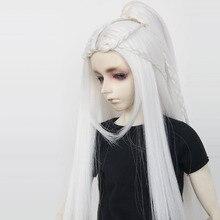 Immédiatement expédié BJD/SD poupée perruque Photon très long cheveux noirs haute température fil 1/3 1/4 1/6 haute qualité