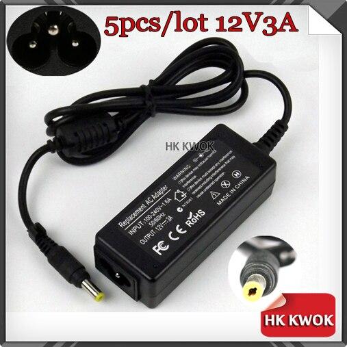 ¡Envío gratis! Adaptador de corriente alterna para cargador de 12V, 3A, 4,8x1,7mm,...