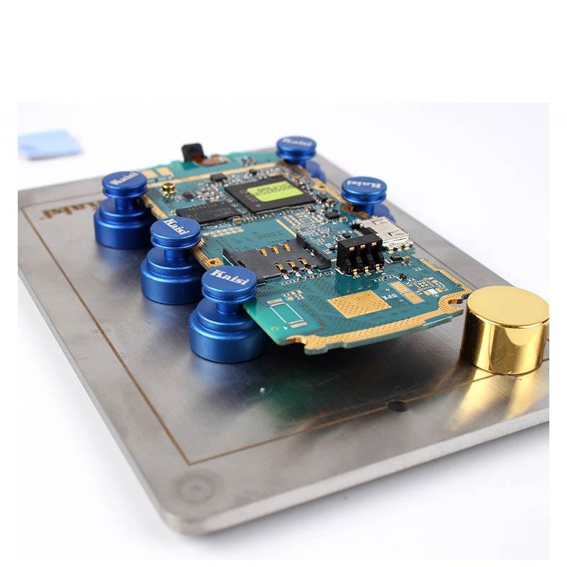 Soporte de placa de circuito PCB kaisi, accesorio de plantilla, mantenimiento magnético móvil para iPhone iPad, herramientas de reparación de teléfonos Android
