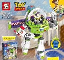 243 pièces Super héros histoire 3 construire un Buzz Lightyear Mech Robots Sy941 Figure blocs de construction jouet Compatible avec Lepining