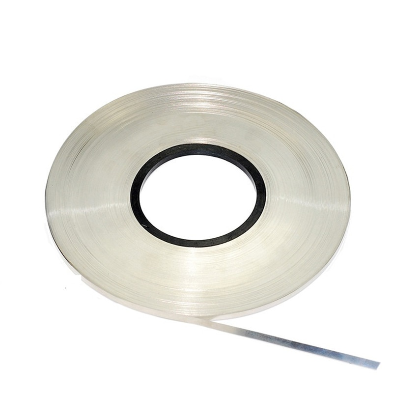 2m 0 2 10mm ni plate nickel strip tape for li 26650 battery spot welding the connecting piece of battery the battery pole ear 1kg/roll spot welding Nickel Plated Steel Strap Strip Sheets 18650 battery spot welder Battery connecting piece welding machine