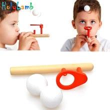 Bébé en bois Puzzle jouets enfants soufflant balle Balance formation coup balle tige enfants garçons filles apprentissage jouet éducatif