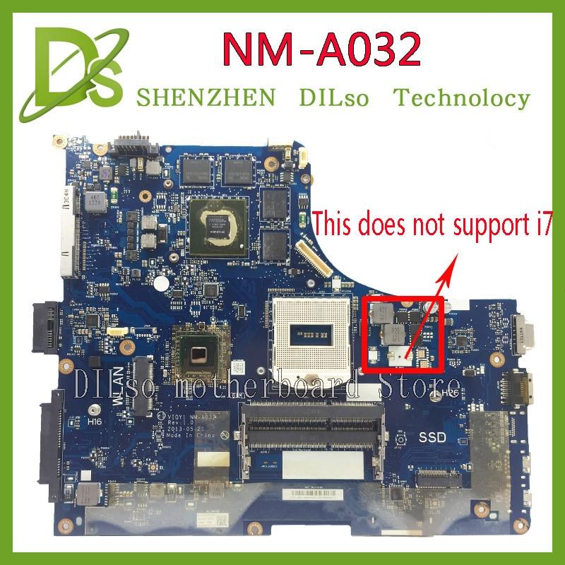 KEFU Y510P VIQY1 NM-A032 REV 1.0 scheda madre del computer portatile per Lenovo Y510P Y510P NM-A032 GT750/755 scheda madre di Prova