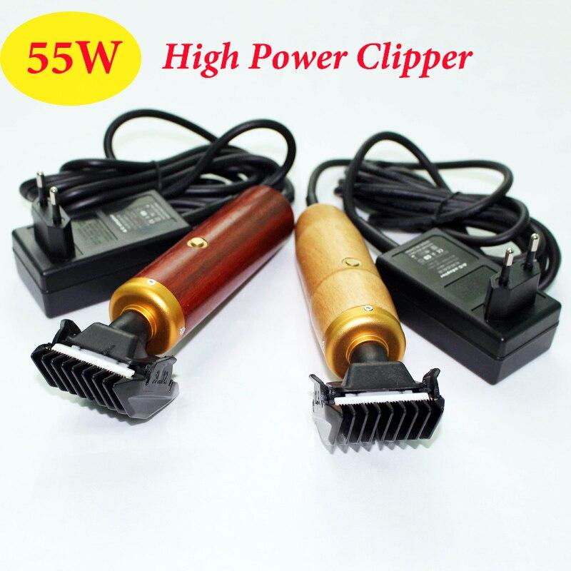 Professional Dog Clipper 55W EU High Power Elektrische Schere Pet Trimmer Pflege Katze Kaninchen Mäher Haar Holz Schneiden Maschine
